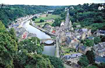 Dinan is very popular with british tourists